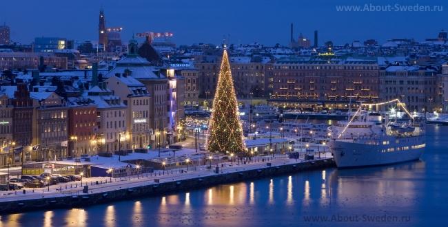 Рождественская набережная Стокгольма