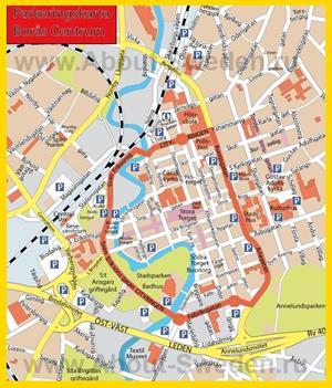 Туристическая карта Буроса с достопримечательностями