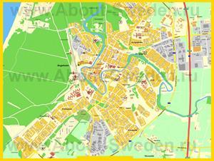 Подробная карта города Энгельхольм