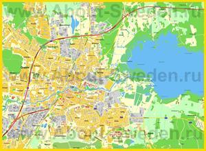 Подробная карта города Эребру