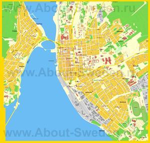 Подробная карта города Эстерсунд