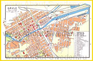 Подробная карта города Евле