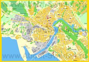 Подробная карта города Фалькенберг