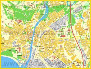 Подробная карта города Хальмстад