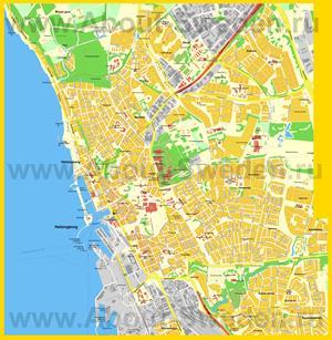 Подробная карта города Хельсингборг