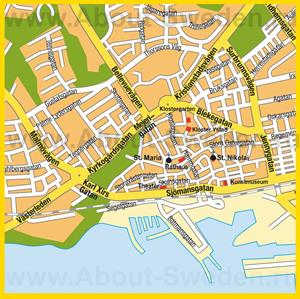 Подробная карта города Истад