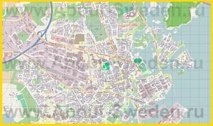 Подробная карта города Кальмар