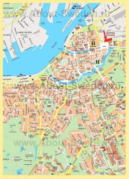 Карта города Гётеборг