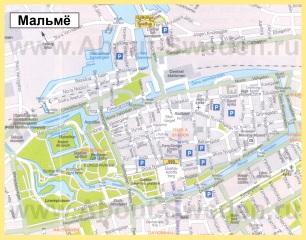 Карта города Мальмё
