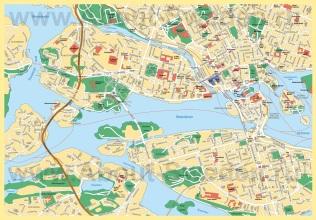Карта Стокгольма с достопримечательностями