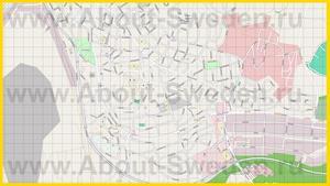 Подробная карта города Кируна
