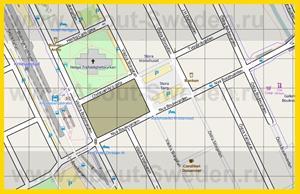 Карта центра Кристианстада