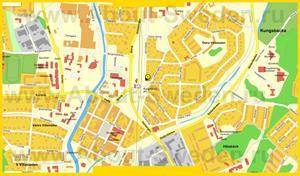 Подробная карта города Кунгсбакка