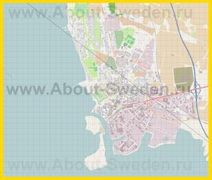 Подробная карта города Ландскруна