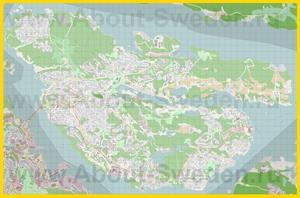 Подробная карта города Лидингё