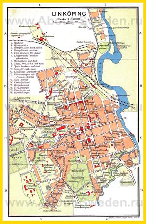 Подробная карта города Линчёпинг