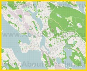 Подробная карта города Лулео