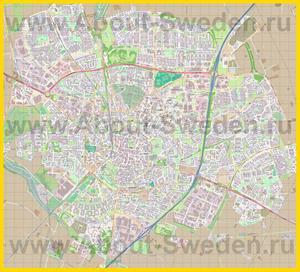 Подробная карта города Лунд