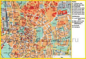 Туристическая карта Лунда с отелями