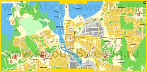 Подробная карта города Мариестад