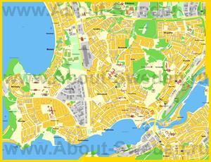 Подробная карта города Мутала