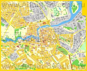Подробная карта города Норрчёпинг