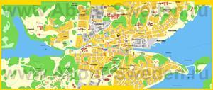 Подробная карта города Норртелье