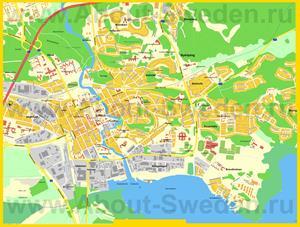 Подробная карта города Нючёпинг