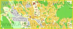 Подробная карта города Окерсберг