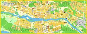 Подробная карта города Шеллефтео
