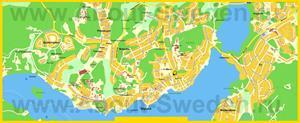 Подробная карта города Сигтуна