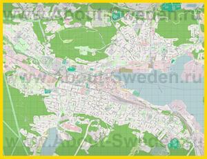 Подробная карта города Сундсвалль