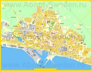 Подробная карта города Треллеборг