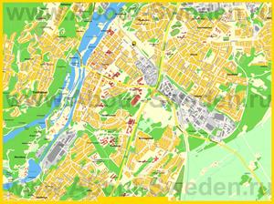Подробная карта города Тролльхеттан
