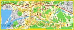 Подробная карта города Уддевалла