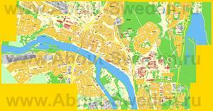 Подробная карта города Умео