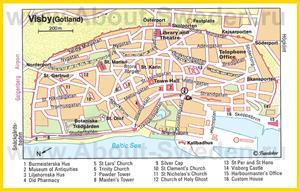Туристическая карта Висбю