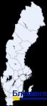 Блекинге на карте Швеции