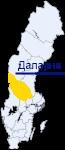 Даларна на карте Швеции