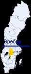 Эребру на карте Швеции