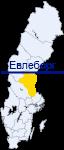 Евлеборг на карте Швеции