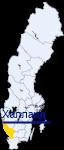Халланд на карте Швеции