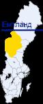 Емтланд на карте Швеции