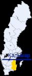 Кальмар на карте Швеции