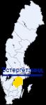 Эстергётланд на карте Швеции