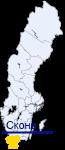 Сконе на карте Швеции