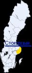 Стокгольм на карте Швеции
