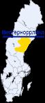 Вестерноррланд на карте Швеции