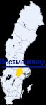Вестманланд на карте Швеции