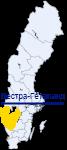 Вестра-Гёталанд на карте Швеции